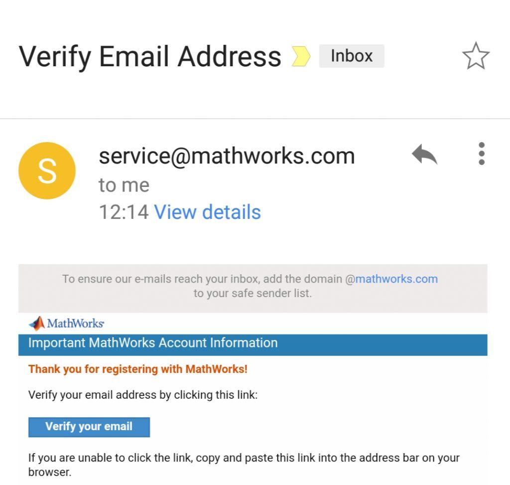 matlab-registration-confirmation-email