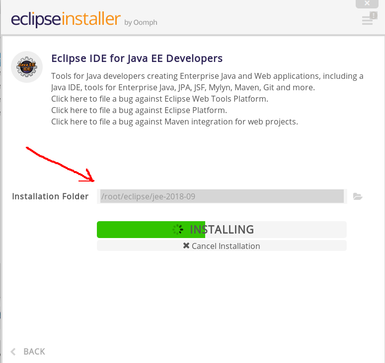 eclipse-install-directory